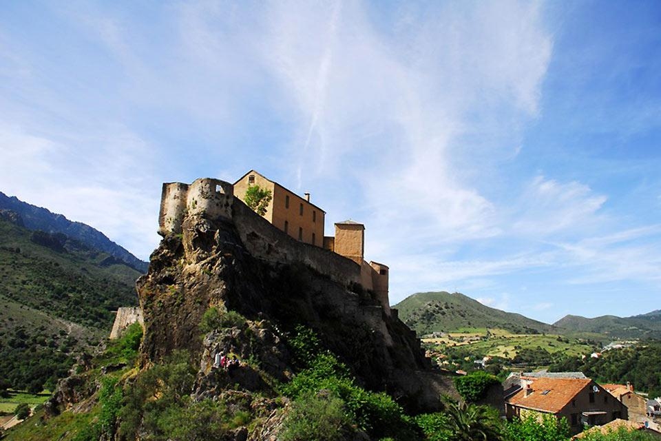 This citadel is perched on the highest summits of Corsica.