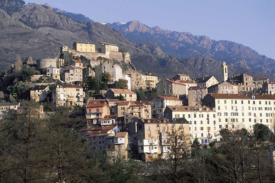 Corte was the capital of Corsica when it was an independent state.