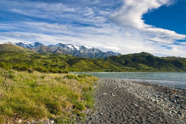 Kaikoura is a village located in New Zealand's South Island where you can go on some beautiful walks along the coastal trails.