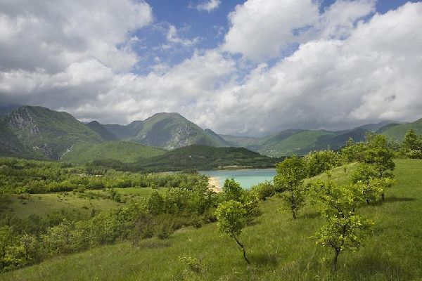 Castel San Vincenzo Lake is an artificial lake in the province of Isernia