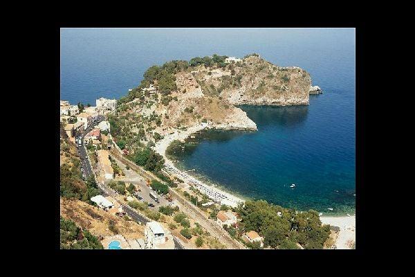 A gulf near Messina, where several seaside resort establishments are located.