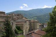 Rieti, antigua ciudad itálica, está considerada históricamente como el «ombligo de Italia» debido a su ubicación central.