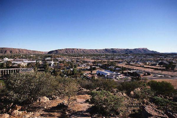 Situado en el Territorio del Norte, Alice Springs es un oasis urbano en medio del desierto.