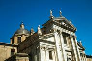 Urbino's cathedral, dedicated to Santa Maria Assunta, was rebuilt after an earthquake that destroyed the former church in 1789.