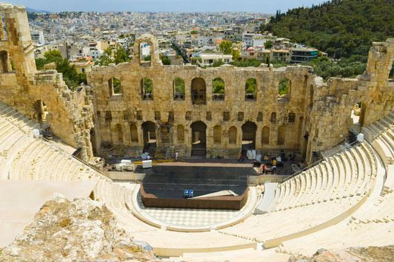 Ath�nes : Le th��tre de Dionysos - Gr�ce
