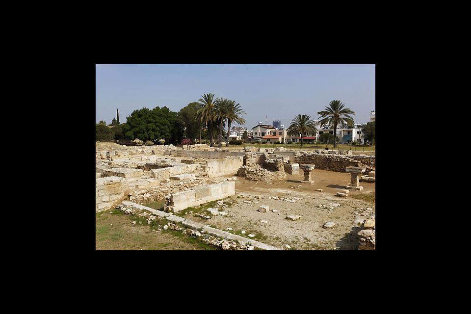 Il sito archelogico dell'antica città di Kition mostra le vestigia di un'epoca passata.