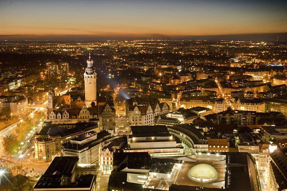 Die Stadt Leipzig ist ein berühmtes Reiseziel in Ostdeutschland.