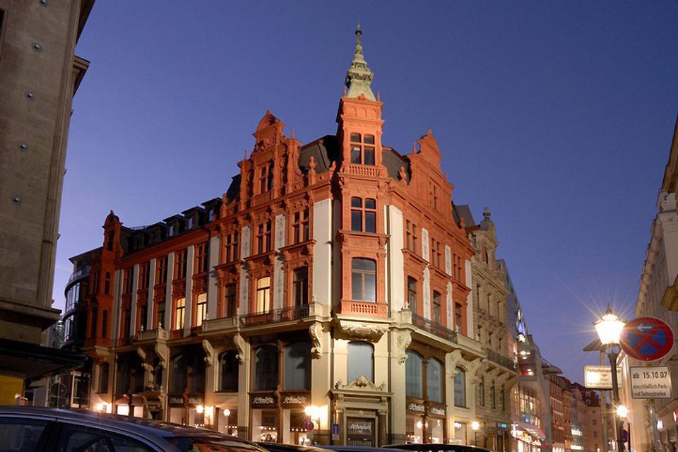 L'architettura di Leipzig è meno moderna.