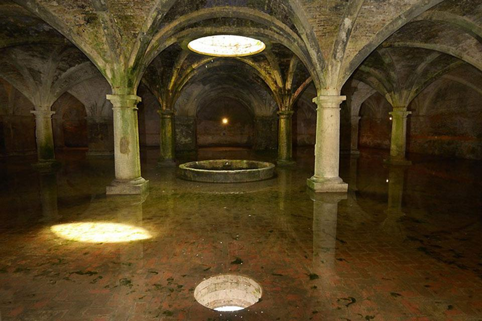 A beautiful Portuguese cistern can be found underneath the city