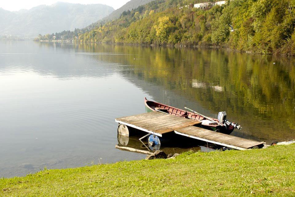 Der Luganersee heißt auch Lago Ceresio.
