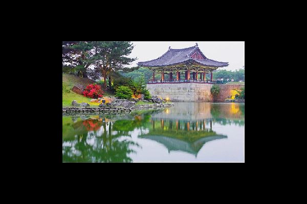 In Gyeongju National Park, this pond was part of the palace complex of ancient Silla.