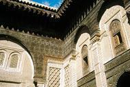 El palacio real de Mequinez, Al Mhancha, se construyó a principios del siglo XVIII y se encuentra en el centro de la kasbah ismailista.