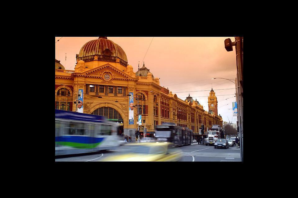 Melbourne liegt im Südosten Australiens.