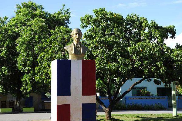 Uno de los padres fundadores de la República Dominicana, omnipresente en el país.