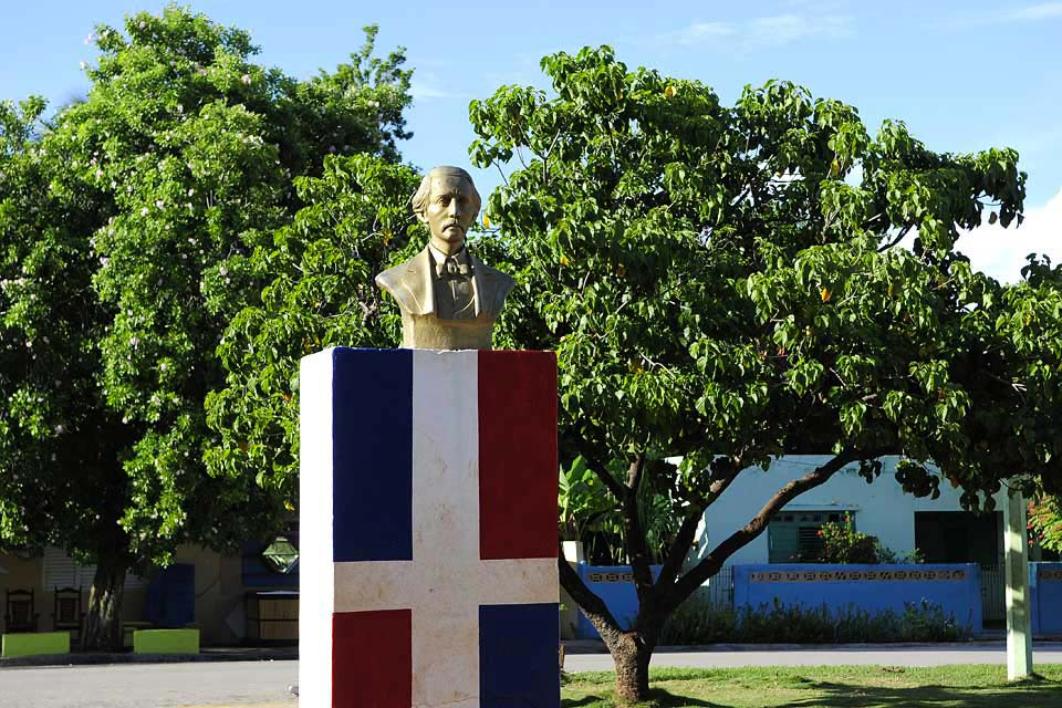 One of the founding fathers of the Dominican Republic, he is omnipresent in the country.