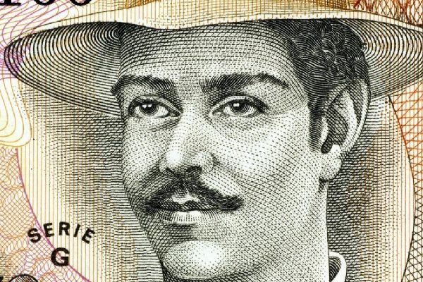 Appearing on the 500 Cordoba banknote, Benjamin Zeledon was the War Minister and the country's revolutionary president in 1912. He is considered to be a national hero.