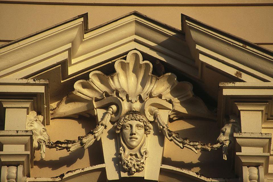 Dettaglio della facciata del Museo Archeologico di Merida.
