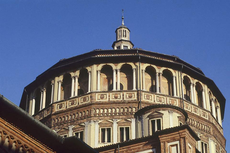 Santa-Maria delle Grazie ('Holy Mary of Grace') is a Dominican church which was declared a Unesco World Heritage Site, along with the The Last Supper by Leonardo da Vinci which is kept in the refectory of its convent.