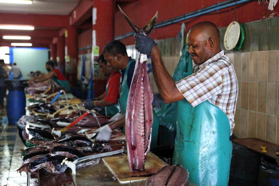 La pesca è una delle poche attività praticate sull'isola, completamente sprovvista di risorse naturali.