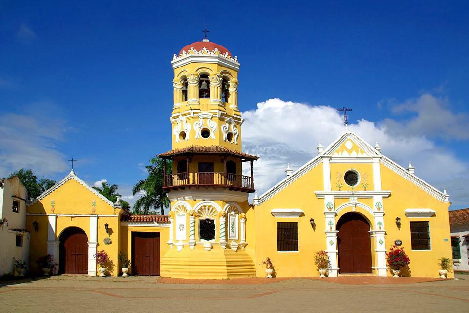 Located near the Magdalena River, the church is a place much respected by the inhabitants of Mompox