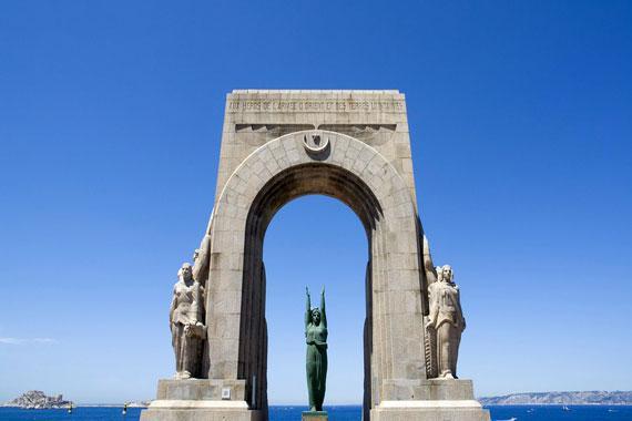 Marseille : Porte de l'Orient - France