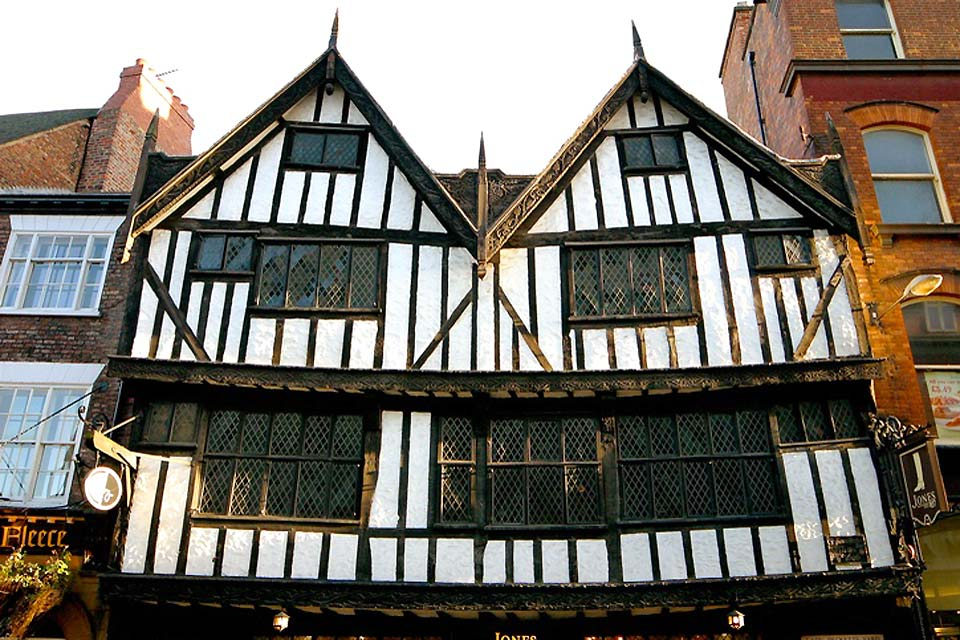One of York's many traditional tudor houses, which have been preserved for centuries
