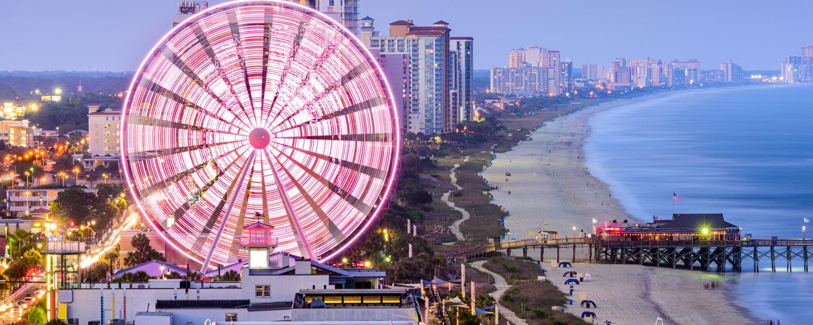 Myrtle Beach, Le sud des Etats-Unis, Etats-Unis, Myrtle Beach, le front de mer
