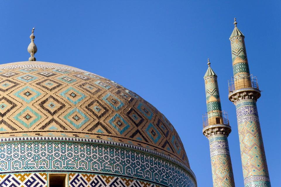 The minarets of this 800 eyar old mosque are also among the tallest in Persian architecture