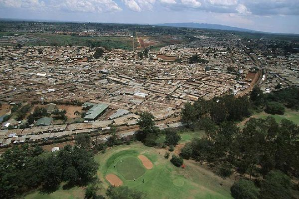 An aerial view of Nairobi, Kenya's most populated city.