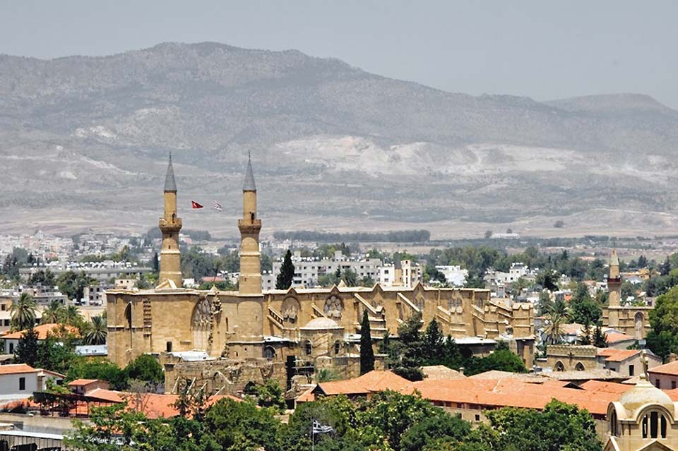 The Frankish Saint Sophia cathedral became a mosque under the Ottomans. It is now in the occupied zone.