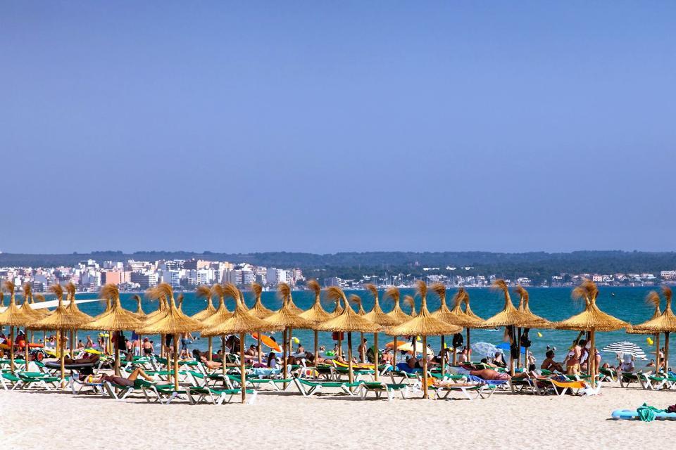 """L'immense Playa de Palma, bordée d'une longue ligne d'hôtels, de restaurants et de bars, s'étend jusqu'au port El Arenal, à l'extrémité de la baie. C'est la partie prisée des Allemands : il y a même une """"Bier Strasse"""", où tout est écrit en allemand ! En octobre s'y déroule l'Oktoberfest, la fête de la bière, comme à Munich ! Les amateurs d'authenticité devront dépasser cette zone très urbanisée pour ..."""