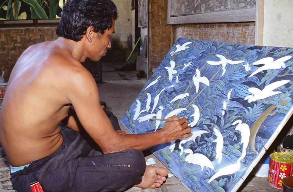 Art is a vital part of life in Ubud, where many galleries exhibit local talents.