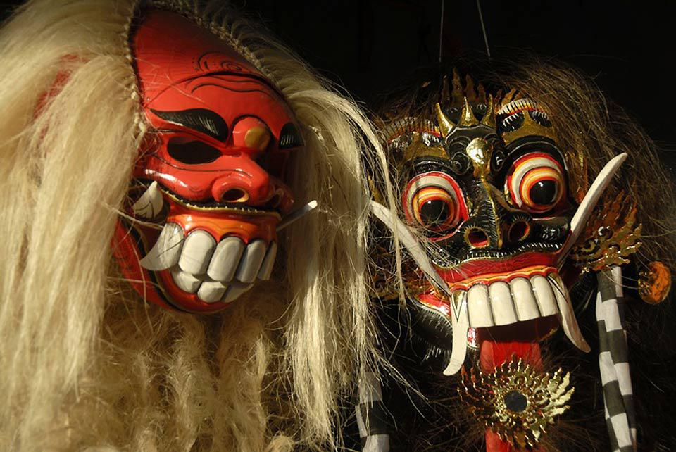 Balinese myths and legends are the pretext for a profusion of creativity that is well represented on these theatrical masks.