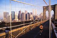You can cross the bridge over to Brooklyn starting at City Hall in Manhattan, others choose to run or cycle