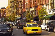 The iconic yellow cabs of New York are a quick, cost-effective way of getting round the city