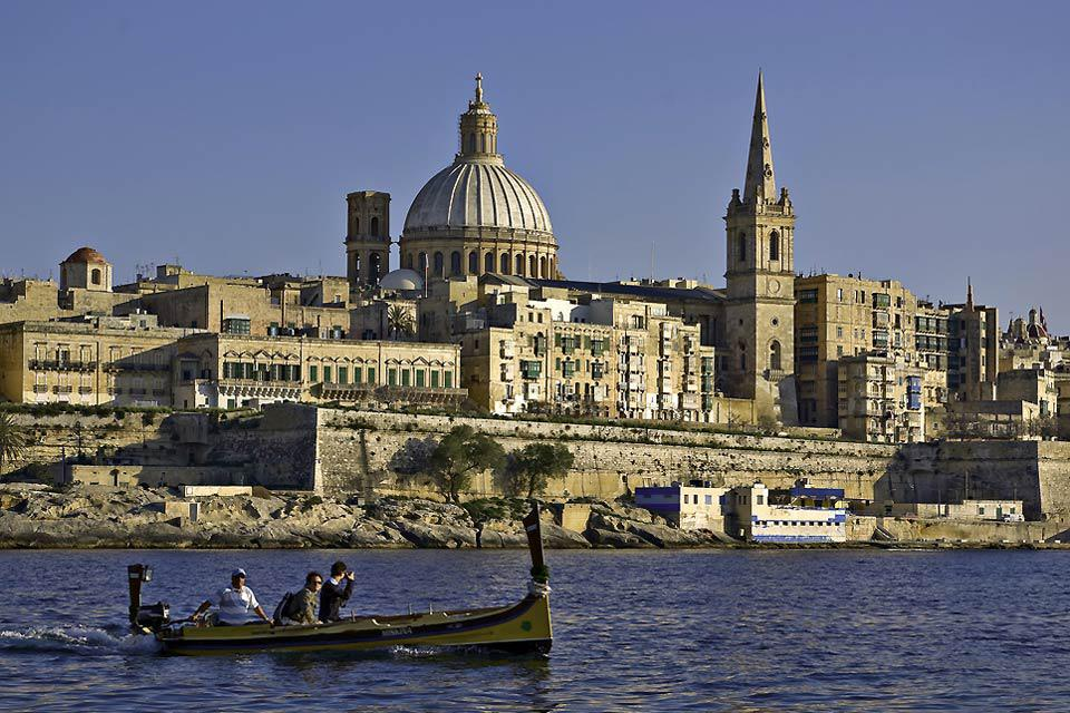 Valletta was built by the Knights Hospitaller, and is a masterpiece of baroque architecture.