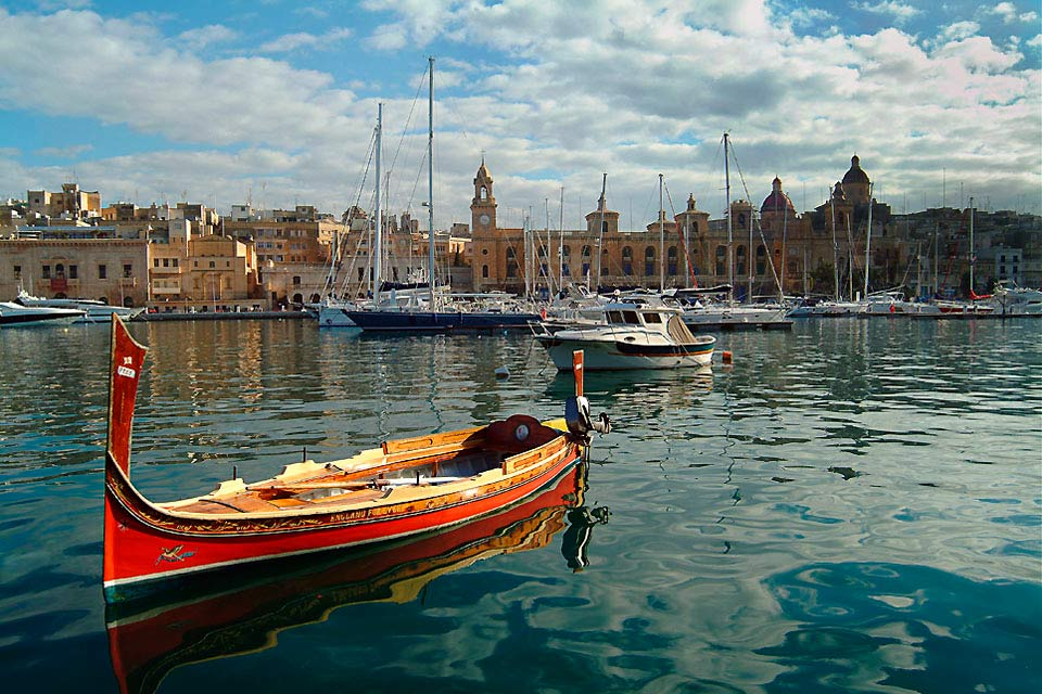 Valletta was built around its two main harbours, Marsamxett and the Grand Port.