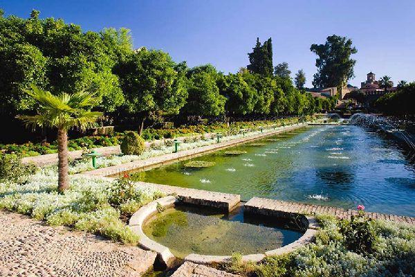 The gardens of the Alcázar de los Reyes Cristianos in Córdoba.