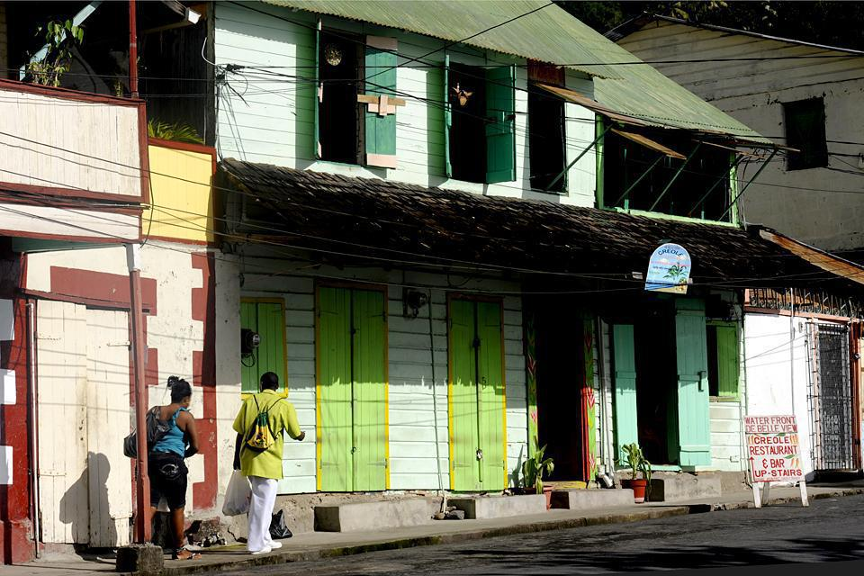 Part of Soufrière is still made up of traditional wooden houses.