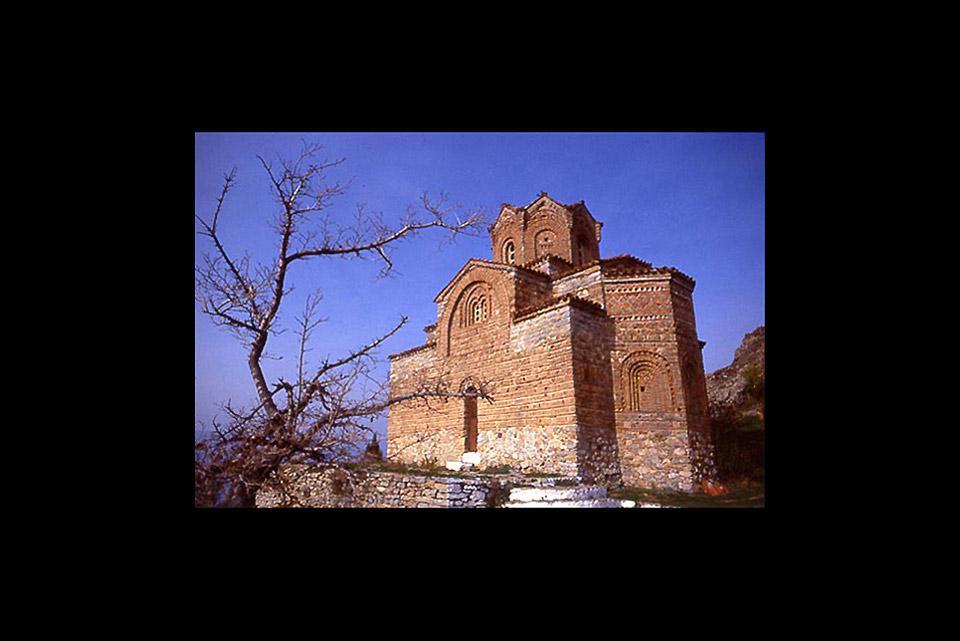 Diese Stadt von Makedonien gehört zum UNESCO-Weltkulturerbe. Eine der zahlreichen Schönheiten der Stadt ist die Kirche San Jovan.