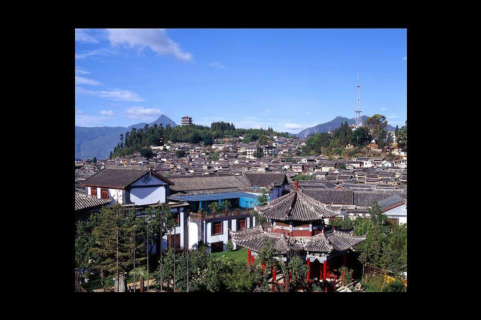 The city of Lijiang, in the Yunnan province, is mostly inhabited by Tibetans.