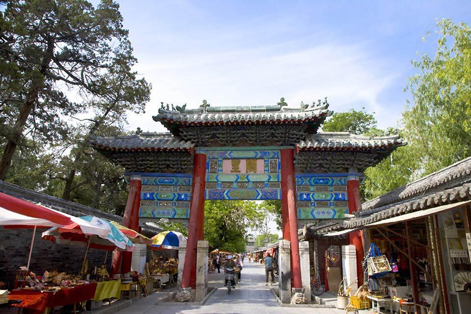 Beeindruckend sind vorallem die Torbögen der chinesichen Tempel