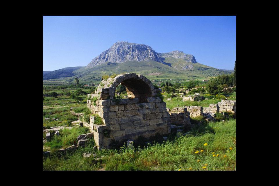 Corinth was once home to the famous temple of Aphrodite.