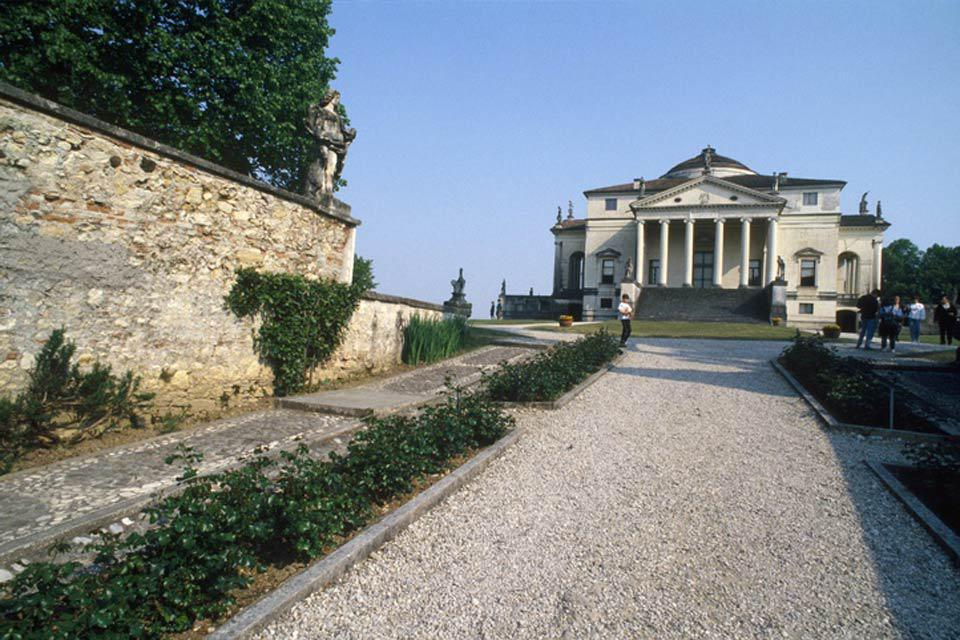 Villa Almerico Capra, known as 'La Rotonda', is a villa with a central plan located close to Vicenza and designed by Andrea Palladio.