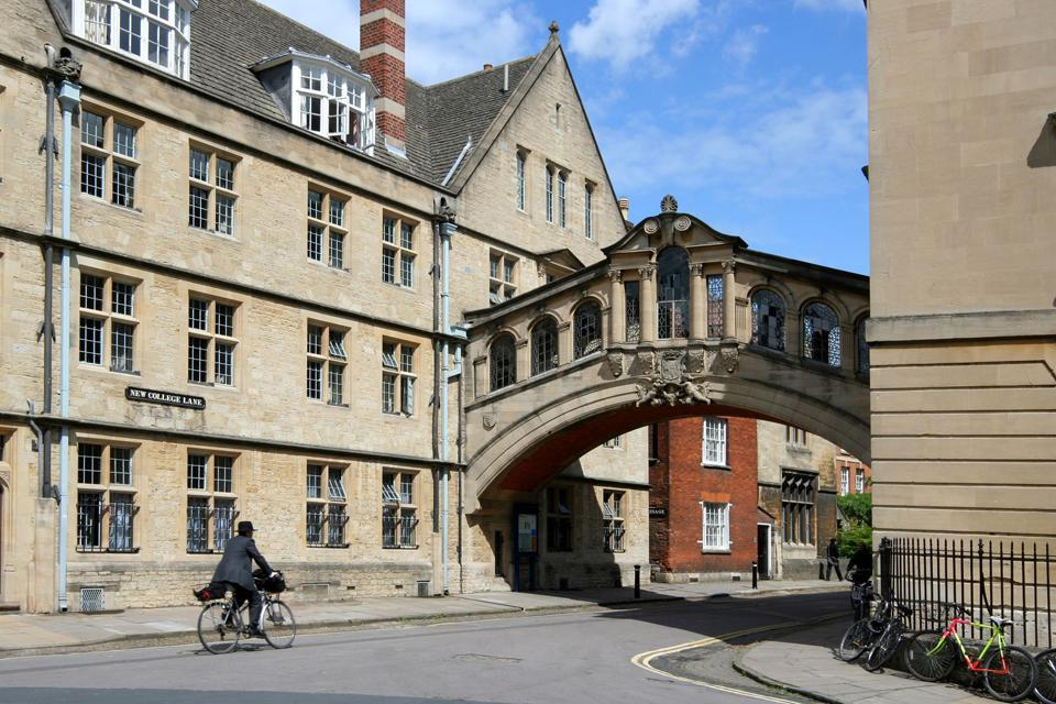 """Oxford is known as the """"city of dreaming spires"""", a term coined by poet Matthew Arnold in reference to the harmonious architecture of Oxford's university buildings."""