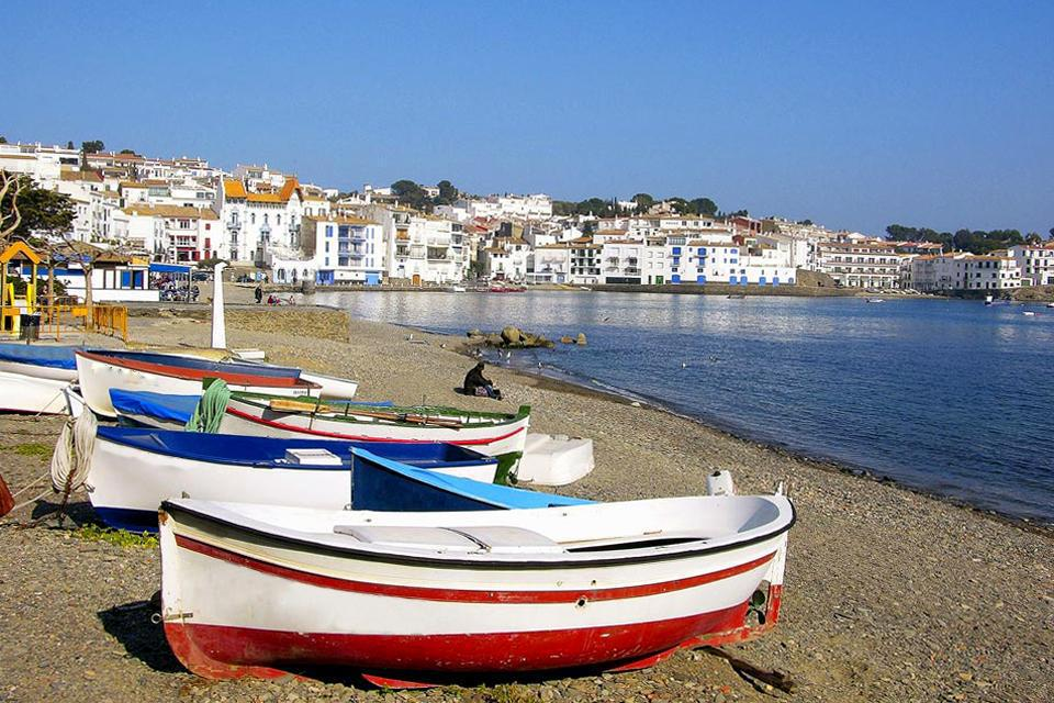 The village of Cadaques is located to the east of Catalonia.