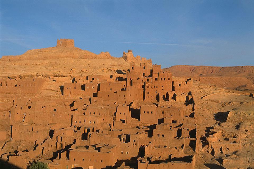 Le ombre si allungano e la calma pervade Ouarzazate...