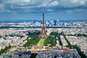 Parigi, Parigi e Ile de France, Francia, Vista sulla Tour Eiffel