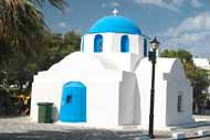 Like throughout the whole island of Paros, Parikia is home to a large number of post-Byzantine churches.