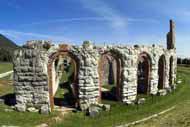 El teatro romano de Gubbio se construyó en el s. I a. C.
